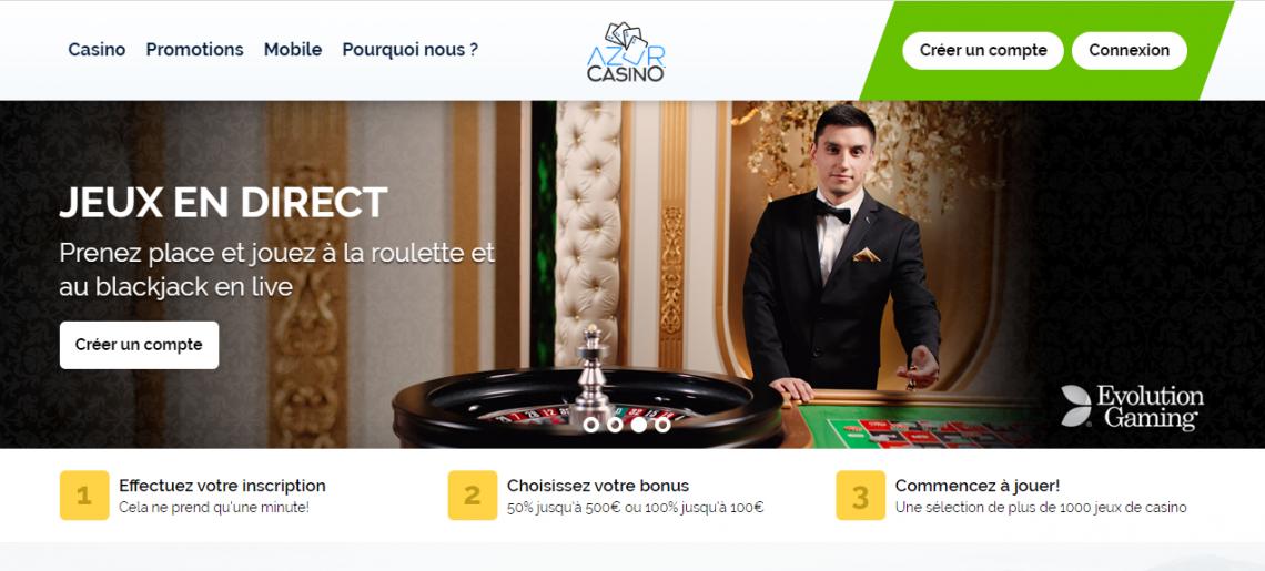 Casino azur : le meilleur site de jeux en ligne ? Notre avis